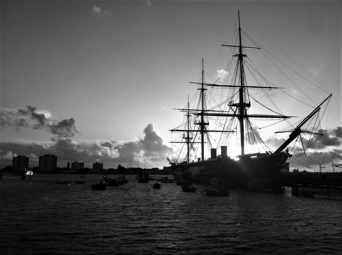 HMS Warrior viewed from Portsmouth Harbour